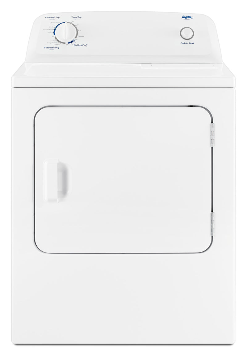 Inglis 4 4 Cu Ft I E C Top Load Washer And 6 5 Cu Ft