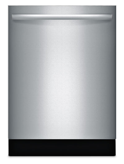 "Bosch 800 Series 24"" Bar Handle Dishwasher – Panel Ready SGX68U55UC - Dishwasher in Stainless Steel"
