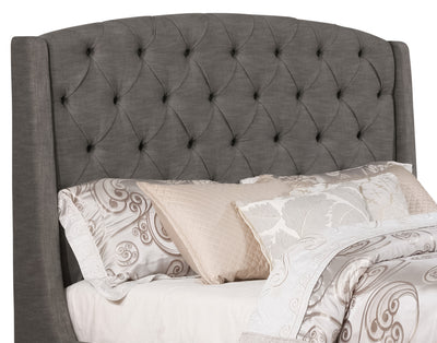 Oslo Queen Headboard - Traditional style Headboard in Grey Pine and Fabric