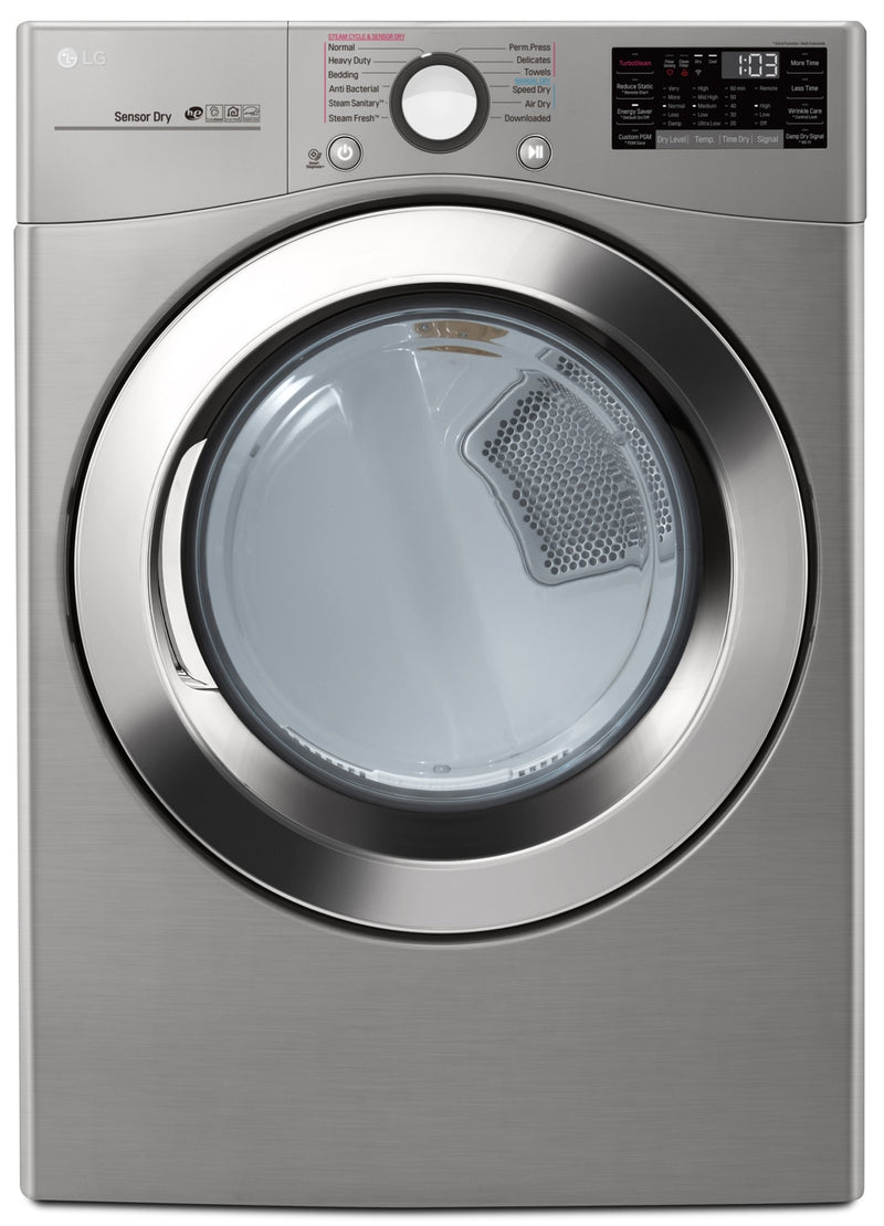 LG 7.4 Cu. Ft. Electric Dryer with TurboSteam™ and WiFi - DLEX3700V|Sécheuse électrique intelligente LG à très grande capacité de 7,4 pi3 avec Wi-Fi - DLEX3700V