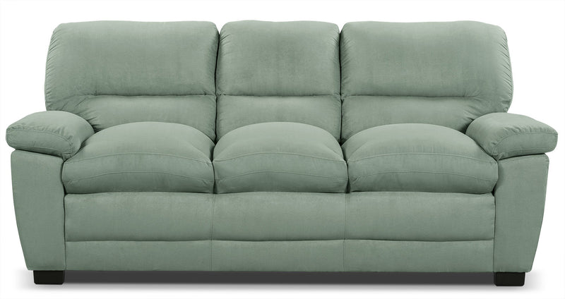 Peyton Microsuede Sofa - Blue Mist - Contemporary style Sofa in Blue Mist