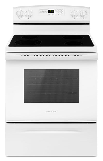 Amana 4.8 Cu. Ft. Freestanding Electric Range with Self-Clean – YAER6603SFW - Electric Range in White
