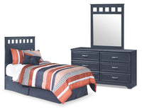 Leo 3-Piece Twin Panel Headboard Package