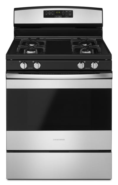 Amana 5.0 Cu. Ft. Freestanding Gas Range with Self-Clean – AGR6603SFS - Gas Range in Stainless Steel
