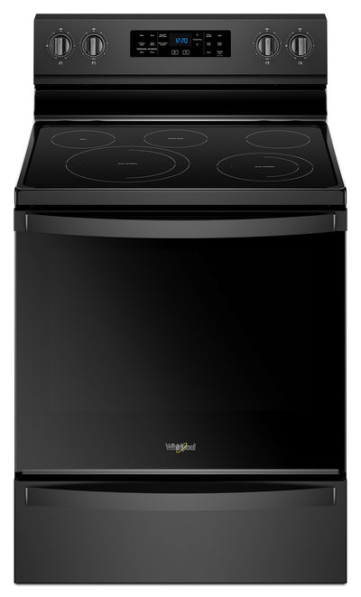 Whirlpool® 6.4 Cu. Ft. Freestanding Electric Range with Frozen Bake™ Technology - Electric Range in Black