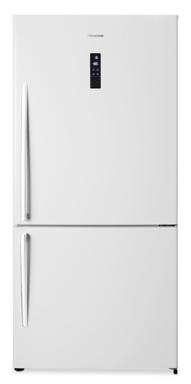 Hisense 17 Cu  Ft  Bottom-Mount Refrigerator with Right Door Swing –  RB17N6BWE