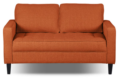 Paris Linen-Look Fabric Loveseat – Tangerine|Causeuse Paris en tissu d'apparence lin - tangerine|PARITGLV