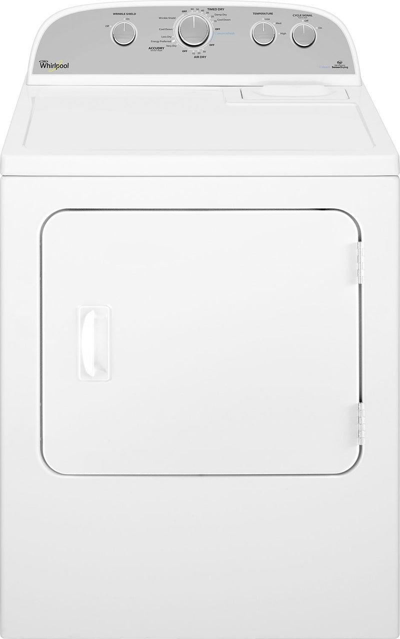 Whirlpool Duet® 7.0 Cu. Ft. High-Efficiency Electric Dryer - YWED49STBW - Dryer with High-Efficiency, Steam in White