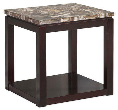 Sicily End Table – Brown - Contemporary style End Table in Deep Chocolate Wood