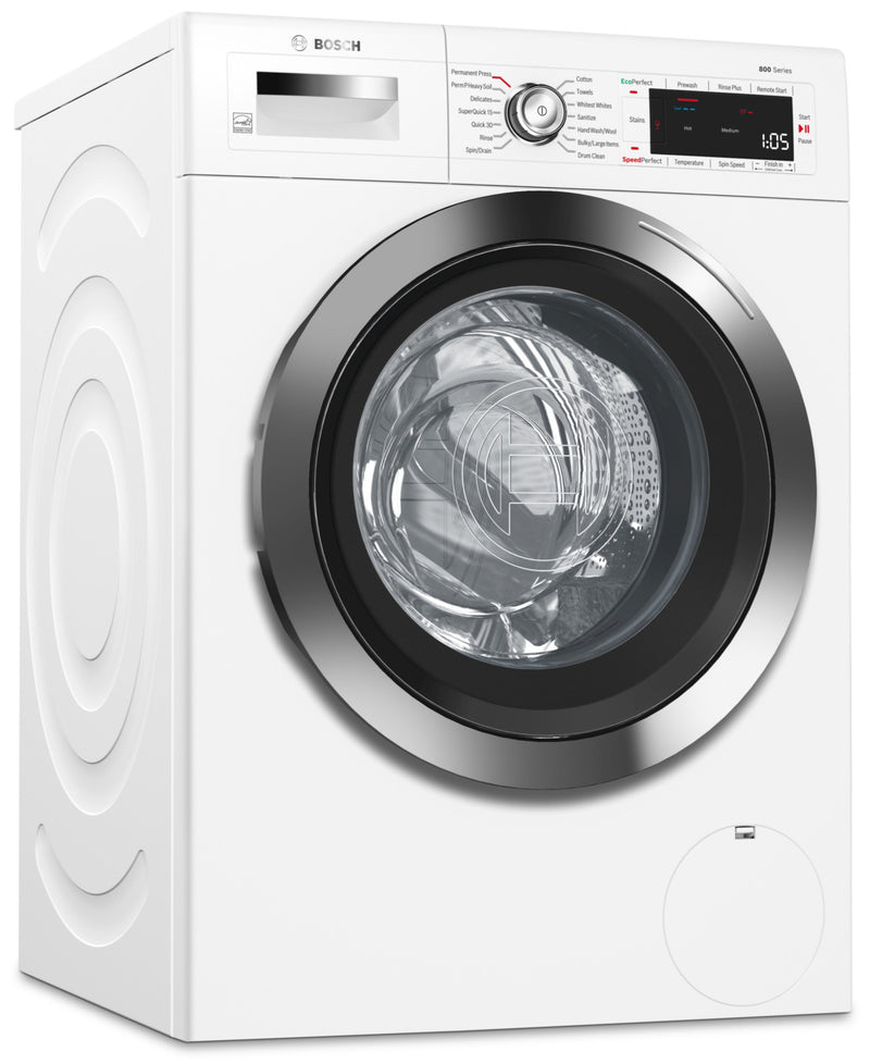 Bosch Home Connect 2.2 Cu. Ft. Compact 800 Series Washer– WAW285H2UC|Laveuse compacte Bosch de série 800 de 2,2 pi3 avec application Home Connect - WAW285H2UC