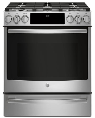 GE 5.6 Cu. Ft. Slide-In Dual-Fuel Convection Range – PC2S930SELSS - Dual Fuel Range in Stainless Steel