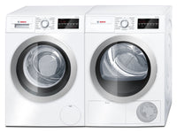 Bosch 500 Series 2.2 Cu. Ft. Compact Washer and 4.0 Cu. Ft. Compact Dryer – White