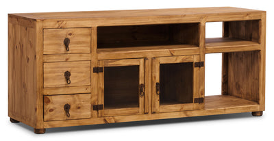 "Santa Fe Rusticos 63"" Solid Pine TV Stand - Rustic style TV Stand in Pine Pine"