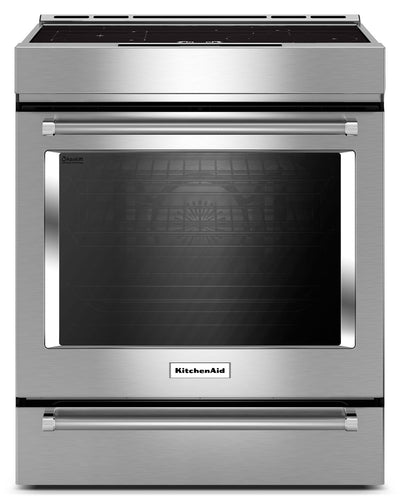 KitchenAid 7.1 Cu. Ft. Slide-In Induction Convection Range with Baking Drawer - KSIB900ESS - Electric Range in Stainless Steel