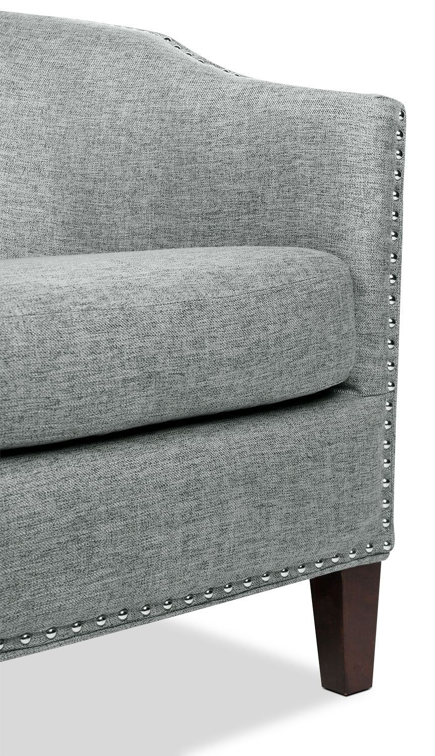 Stella Linen Look Fabric Accent Chair Grey The Brick