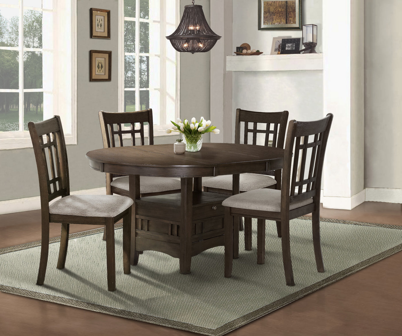 Desi Dining Chair Brown