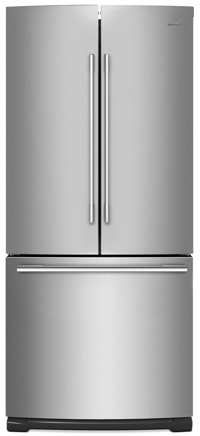 Whirlpool 19.7 Cu. Ft. French-Door Refrigerator with More Usable Capacity - WRFA60SFHZ|Réfrigérateur Whirlpool de 19,7 pi³ à portes françaises - WRFA60SFHZ|WRFA60HZ