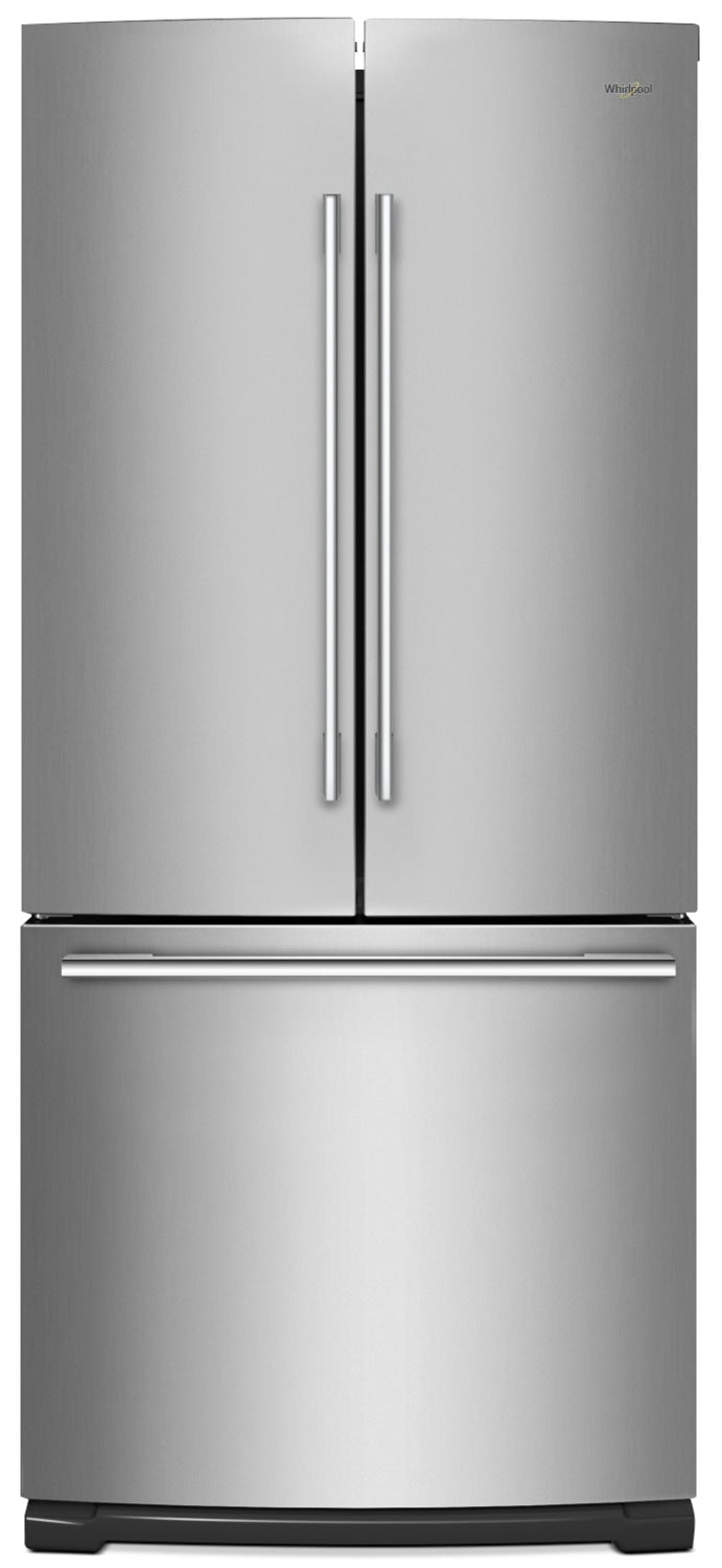 Whirlpool 19.7 Cu. Ft. French-Door Refrigerator with More Usable Capacity – WRFA60SFHZ|Réfrigérateur Whirlpool de 19,7 pi³ à portes françaises – WRFA60SFHZ