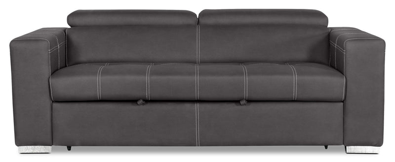Drake Faux Suede Sleeper Sofa – Cement - Modern style Sleeper Sofa in Grey