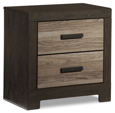 Harlinton Nightstand - Rustic style Nightstand in Two-Toned