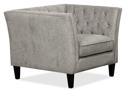 Kayln Chenille Chair – Charcoal - Modern style Chair in Charcoal