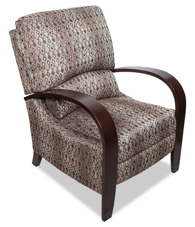 Aaron Fabric Accent Reclining Chair - Contemporary style Accent Chair in Brown