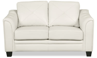Andi Leather-Look Fabric Loveseat – Beige|Causeuse Andi en tissu d'apparence cuir - beige|ANDIBGLV