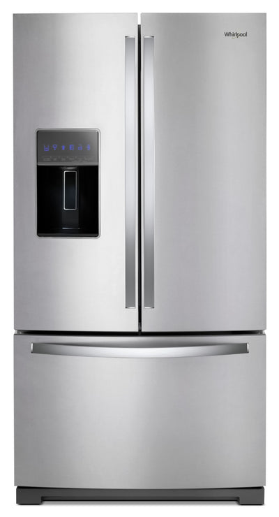 Whirlpool 27 Cu. Ft. French-Door Refrigerator in Fingerprint-Resistant Stainless Steel – WRF757SDHZ - Refrigerator in Stainless Steel