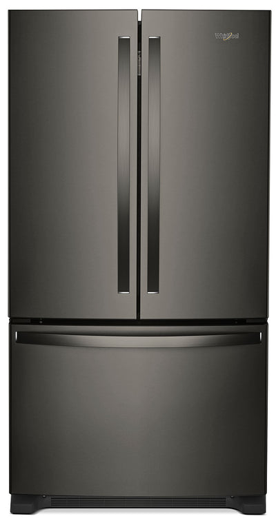 Whirlpool 25 Cu. Ft. French-Door Refrigerator with Internal Water Dispenser – WRF535SWHV - Refrigerator in Black Stainless Steel