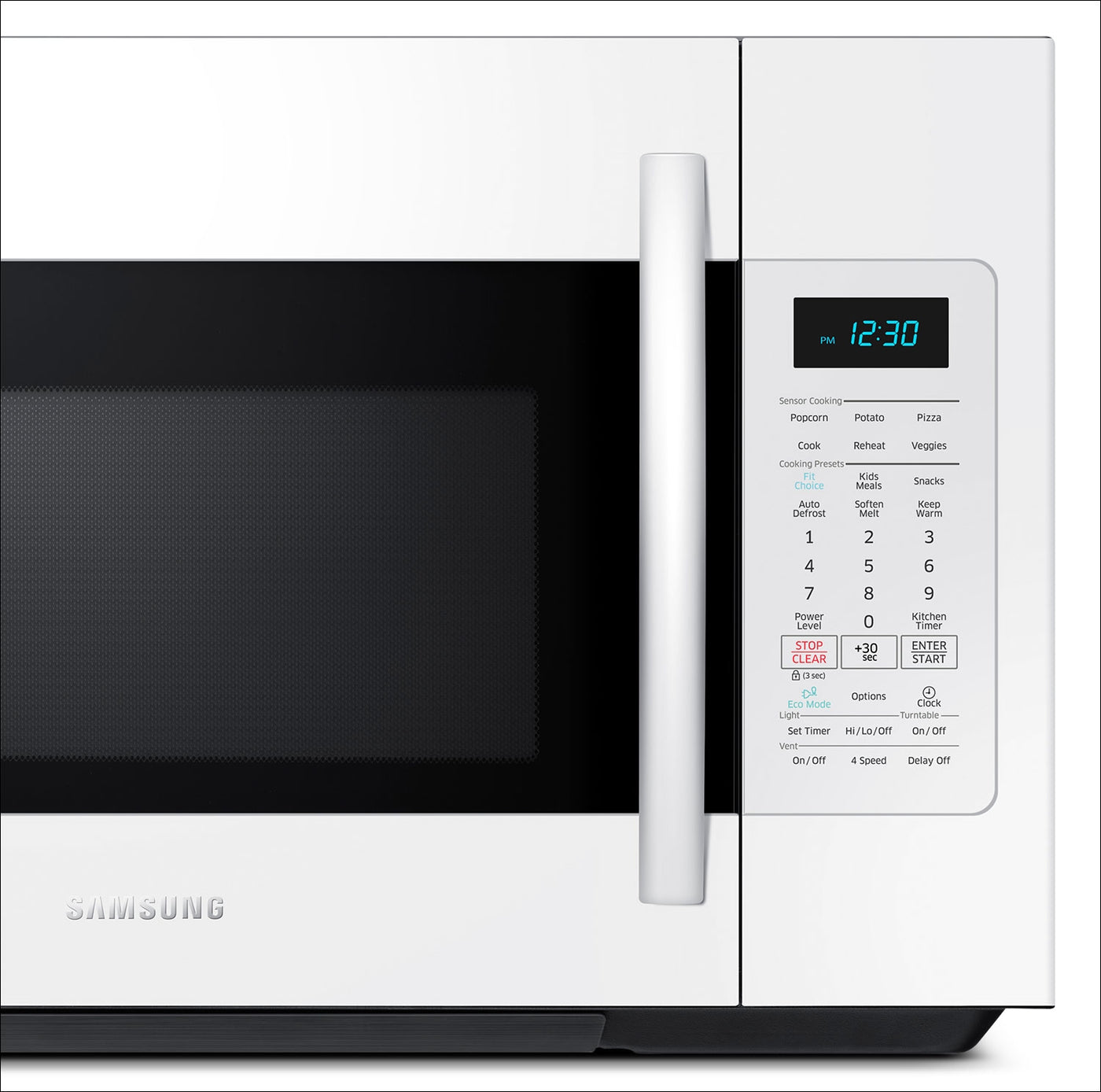 Samsung 1 8 Cu  Ft  Over-the-Range Microwave – White