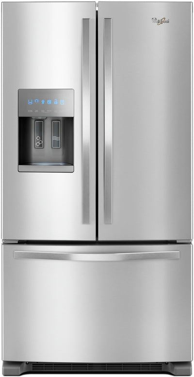 Whirlpool 25 Cu. Ft. French-Door Refrigerator in Fingerprint-Resistant Stainless Steel – WRF555SDFZ - Refrigerator with Exterior Water/Ice Dispenser in Stainless Steel