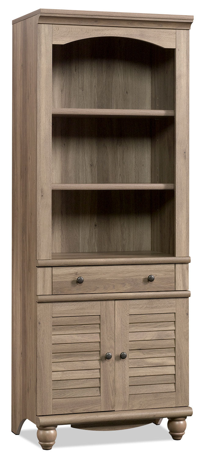 Harbor View Library – Salt Oak - Country style Bookcase in Grey Wood
