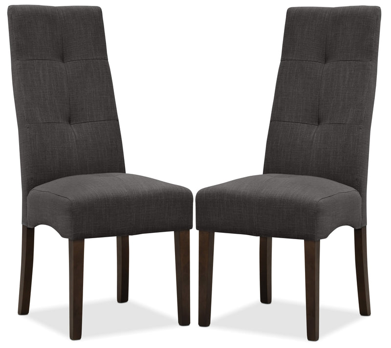 Sadie Dining Chair, Set of 2 - Grey|Chaise de salle à manger Sadie, ensemble de 2 - grise