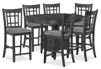 Desi 7-Piece Counter-Height Dining Package – Charcoal