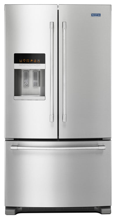 Maytag 25 Cu. Ft. French-Door Refrigerator – MFI2570FEZ - Refrigerator with Exterior Water/Ice Dispenser, Ice Maker in Stainless Steel