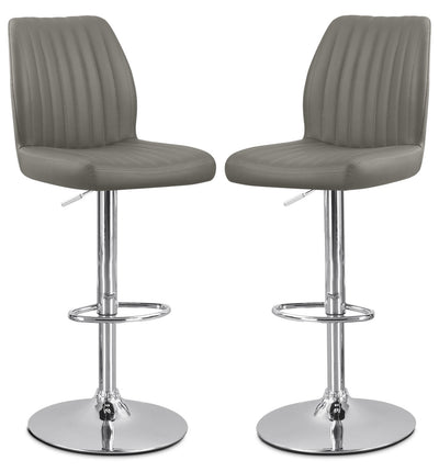 Monarch Adjustable Bar Stool, Set of 2 – Grey|Tabouret réglable Monarch, ensemble de 2 - gris|I2372GBP