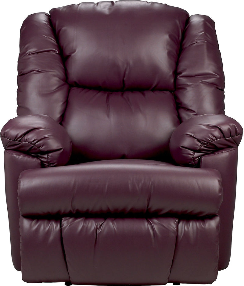 Bmaxx Bonded Leather Power Reclining Chair – Purple|Fauteuil à inclinaison électrique Bmaxx en cuir contrecollé – violet