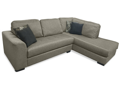 Alta 2-Piece Chenille Right-Facing Sectional – Grey|Sofa sectionnel de droite Alta 2 pièces en chenille - gris|ALTAGRS2
