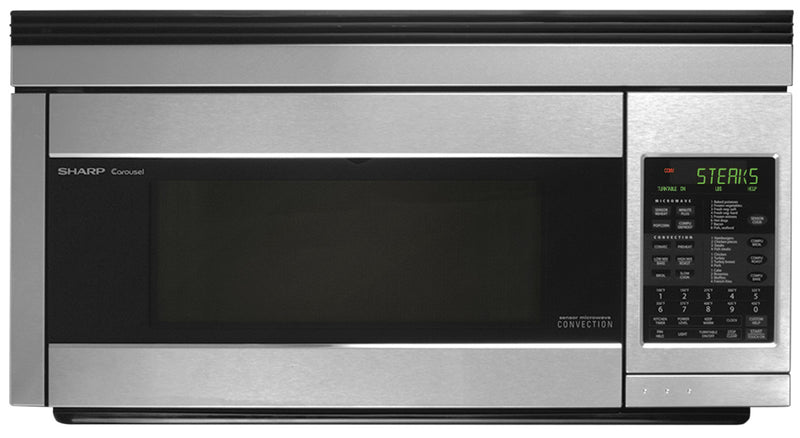 SHARP Over-The-Range Convection Microwave Oven – R1874TY|Four À Micro-ondes Sharp À Convection Et À Hotte Intégrée – R1874TY