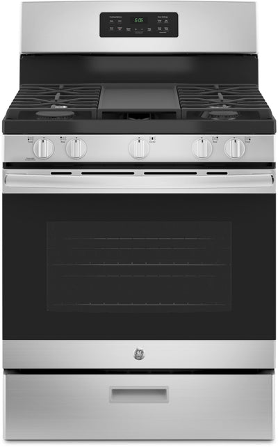 GE 5.0 Cu. Ft. Freestanding Steam-Clean Gas Range – JCGBS66SEKSS - Gas Range in Stainless Steel