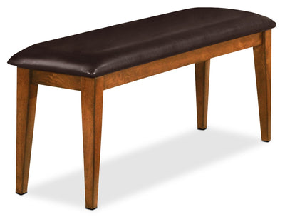Dakota Light Bench - Contemporary style Dining Bench in Light Cherry Mango Wood