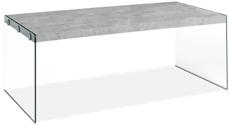 Yonah Coffee Table – Cement Grey|Table à café Yonah - gris ciment