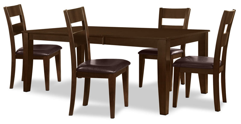 Dakota 5 Piece Casual Dining Package - Contemporary style Dining Room Set in Dark Cherry