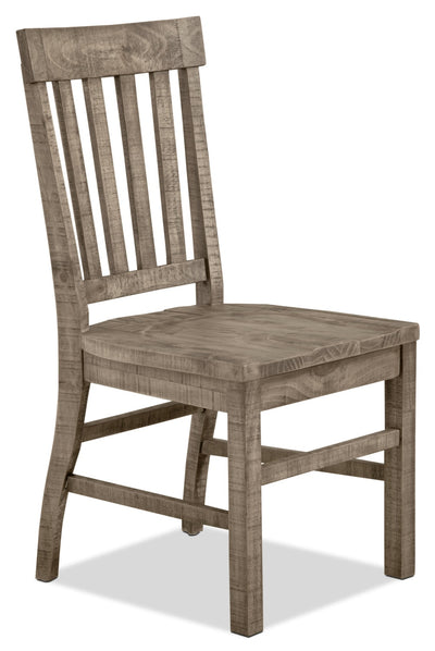 Keswick Dining Chair – Dovetail Grey - Rustic style Dining Chair in Grey Pine
