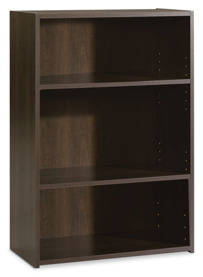 Boston 3-Shelf Bookcase - Contemporary style Bookcase in Dark Brown