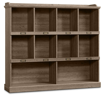 Barrister Lane Wide Bookcase - Scribed Oak - Country style Bookcase in Scribed Oak Engineered Wood and Paper Laminate