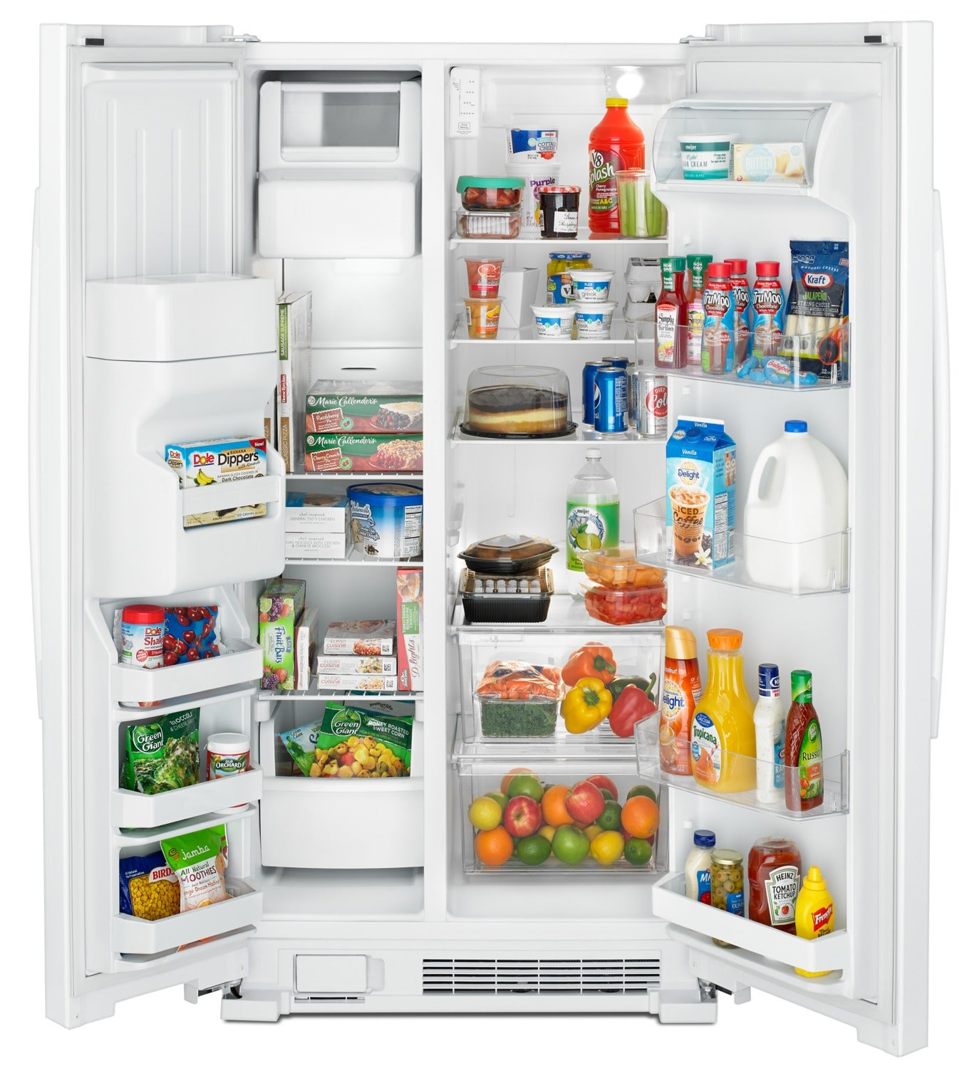 Amana 21 Cu Ft Side By Side Refrigerator With Dual Pad