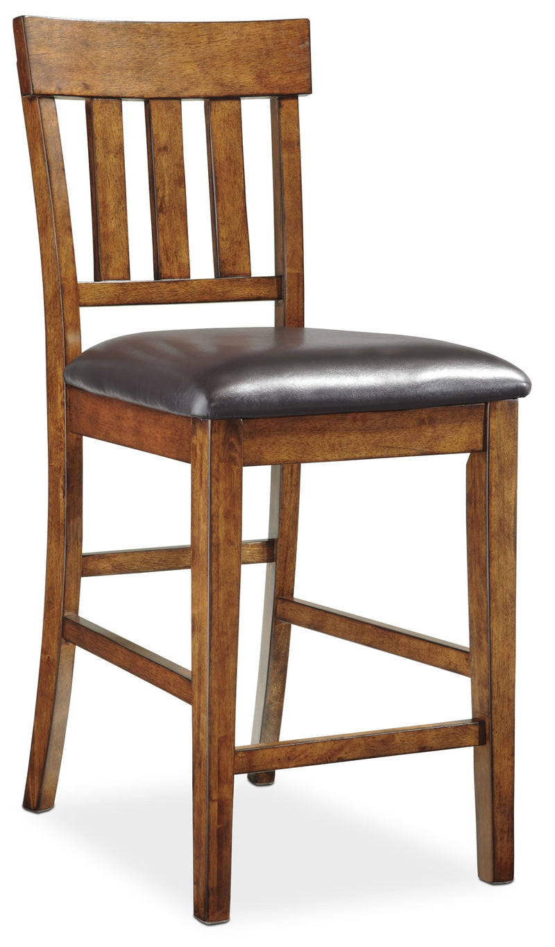 "Ralene 24"" Bar Stool - Country style Bar Stool in Burnished Brown Acacia Solids and Veneers"