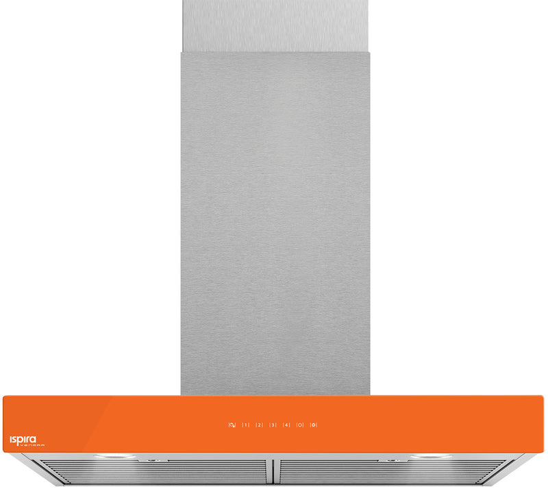 "Venmar Ispira 30"" Chimney Range Hood – Orange