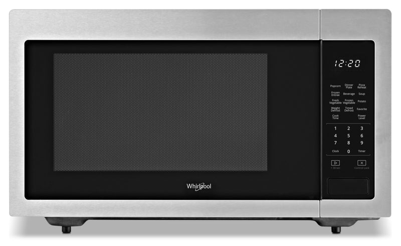 Whirlpool 1.6 cu ft, 21.75 in. Countertop Microwave, 1100 Watts - Countertop Microwave in Stainless Steel